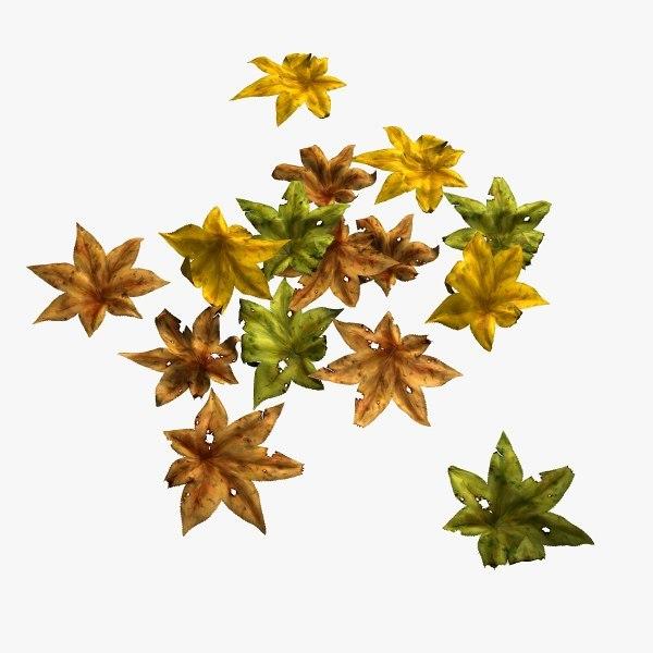 3ds dry leaves leaf 2