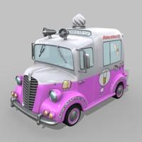 3d max ice cream van