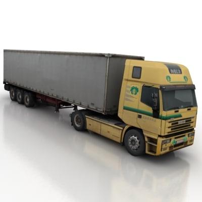 3d model vehicle truck