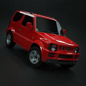 4x4 jimny 3d model
