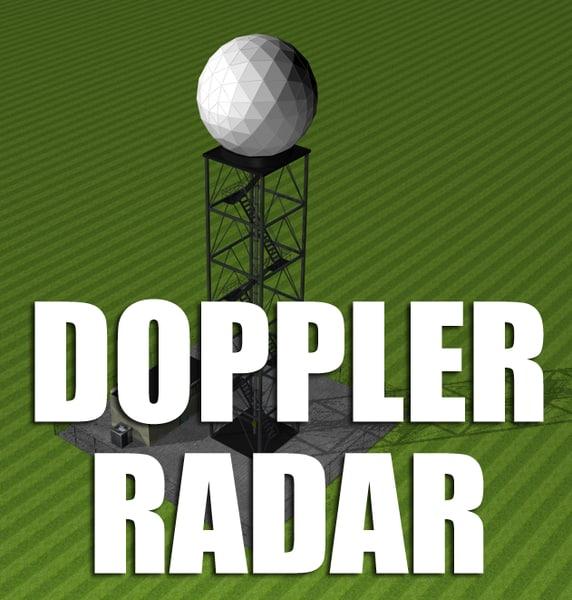 3d weather doppler radar tower model