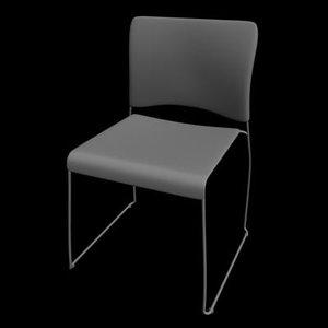 nimble chair 3d max