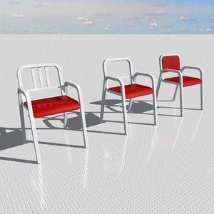 3d armchair designed interior