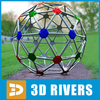 sphere jungle gym 3d 3ds