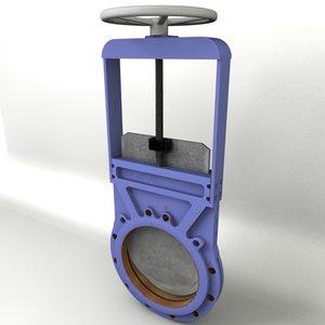 gate valve dn300 3d c4d