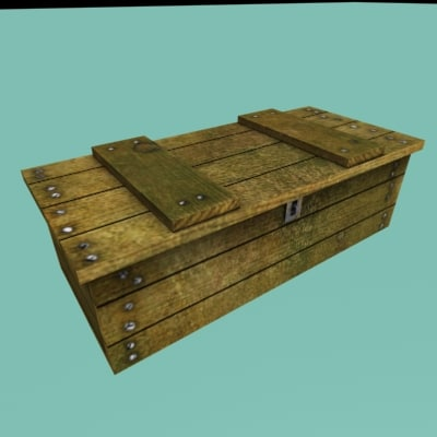 3d old crate