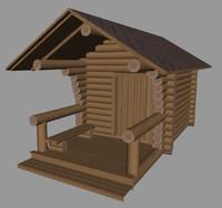 3d finnish sauna model