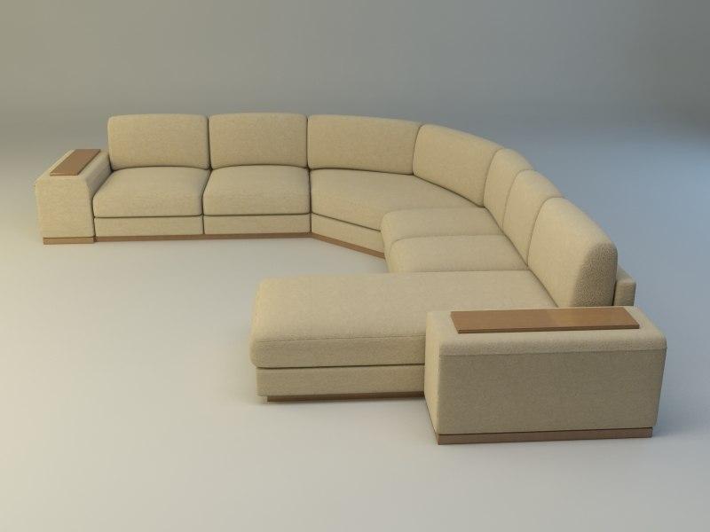3d max corner sofa