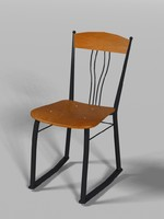 Steel Frame Chair with Wood Seat