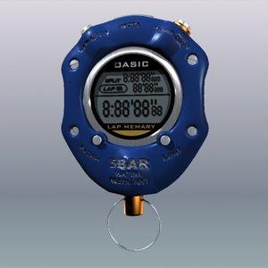 stop watch stopwatch 3d 3ds