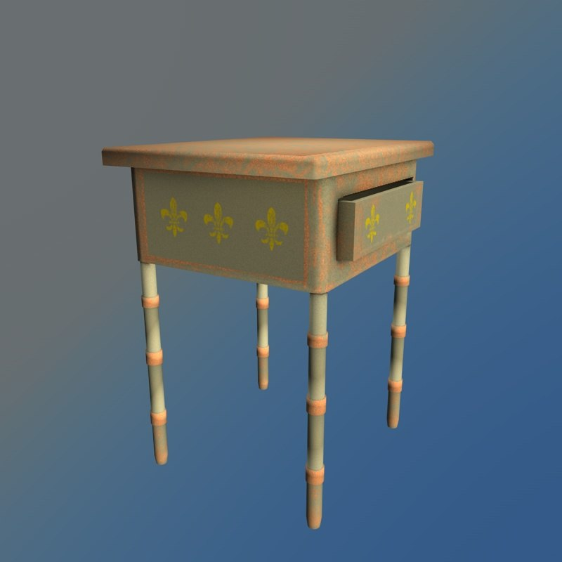 3d model decorative table lamp