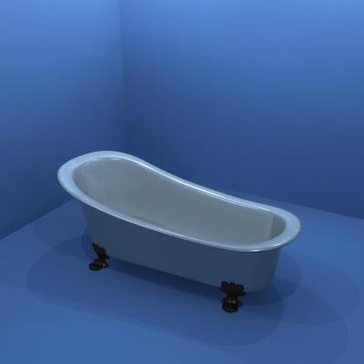 bathtub 3d dwg