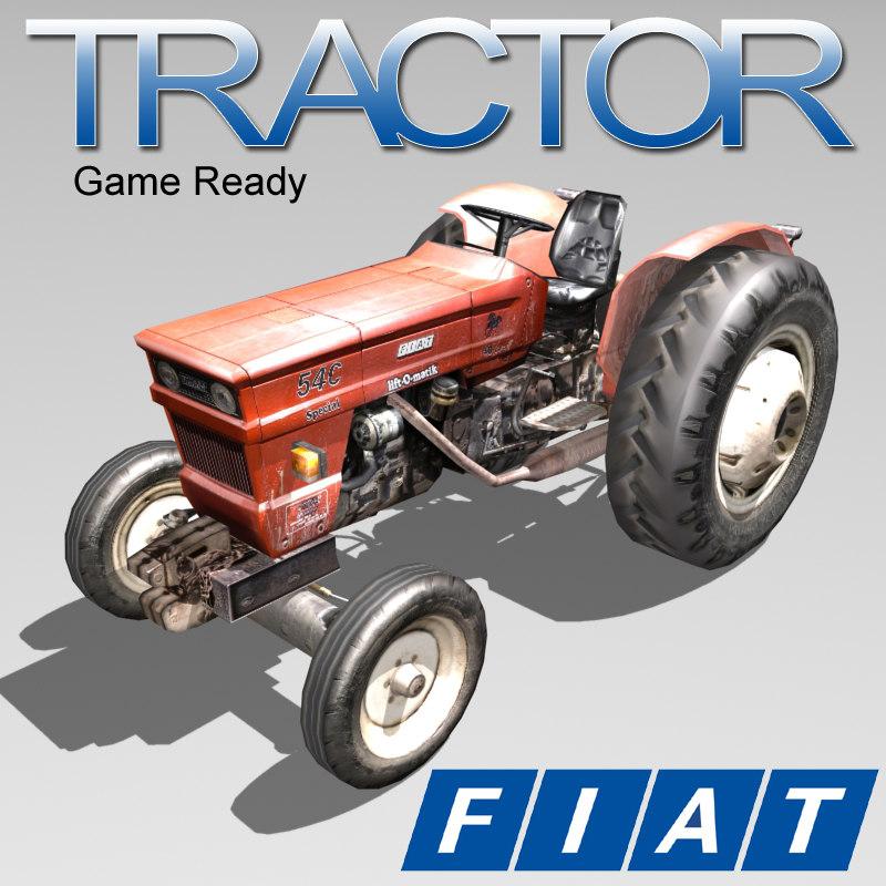 3d farmer tractor fiat model