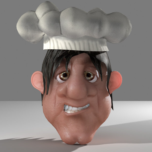 3ds cartoon chef head
