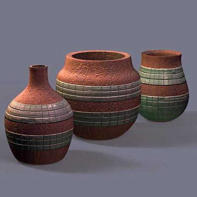 3ds max pot aztec