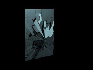 breaking window glass animation 3ds