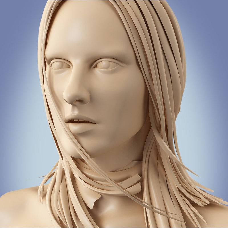 3d human female woman