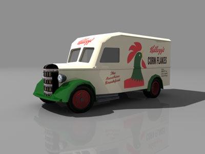 3d bedford 30ctw truck model