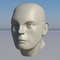 human head character - 3ds