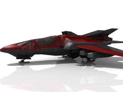 light class vt61 fighter 3d model