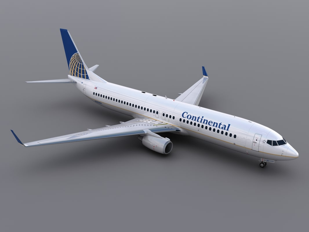 3d aircraft continental model