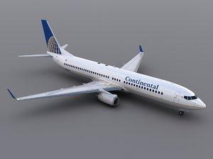 3d aircraft continental model