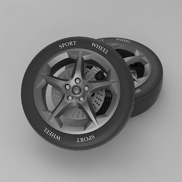 3d model sport wheel