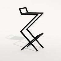 modern bar stool 3d model