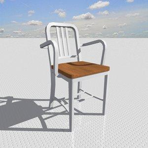 3d model armchair designed interior
