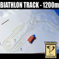 3d model of biathlon track - 1200m