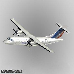 atr 42-500 air france 3d model