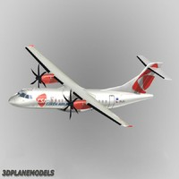 atr 42-500 airliner csa 3ds