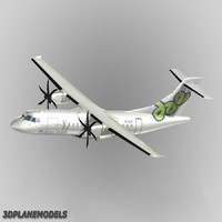 atr 42-500 dutch antilles 3d max
