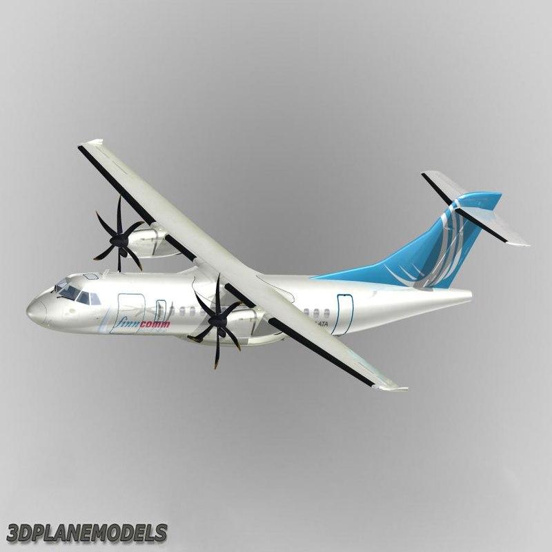 3d model atr 42-500 airliner finncomm