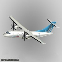 3d model atr 42-500 airliner finncomm