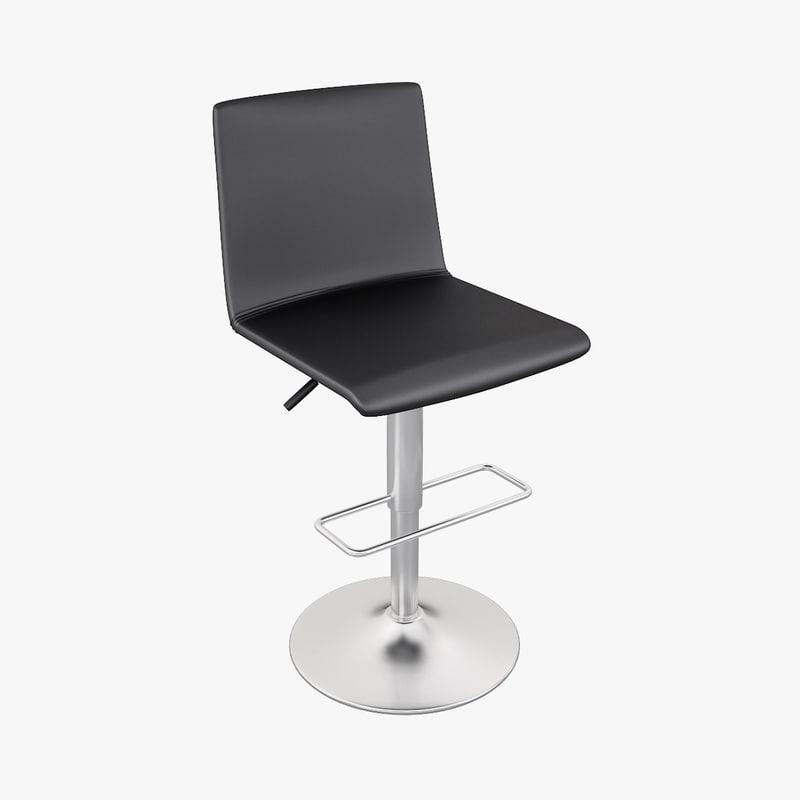 3d siena barstool boconcept model. Black Bedroom Furniture Sets. Home Design Ideas