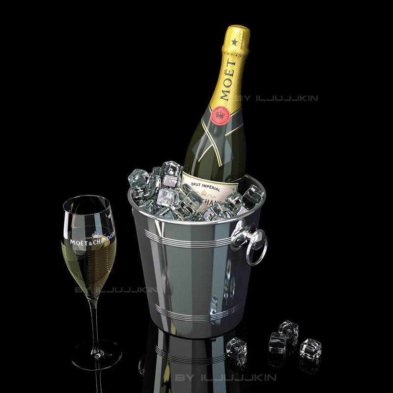 Image result for moet champagne in a ice bucket