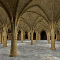 ancient hall 3d model