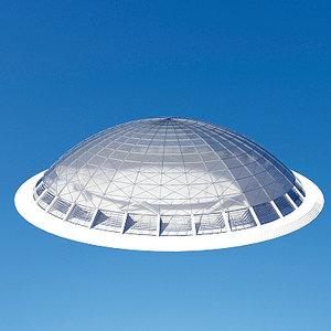 multi-purpose hall dome cupola 3ds