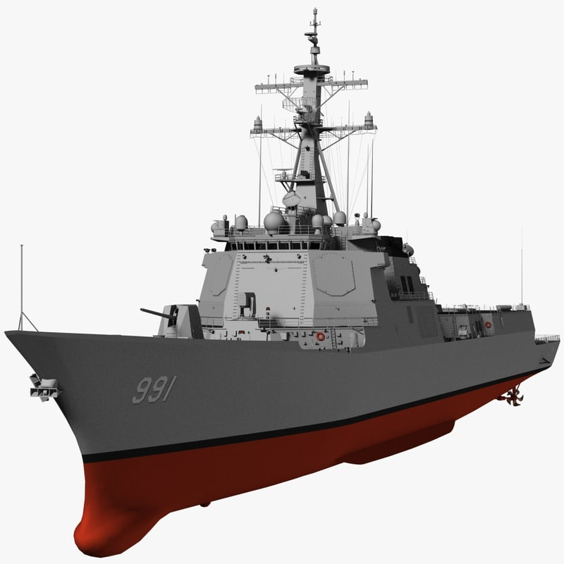 3d korea kdx-iii destroyer model