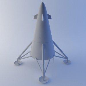 3d model lunar lander
