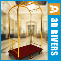 luggage cart 3d max