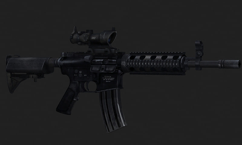 rifle military 3d model