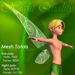 3d model male fairy