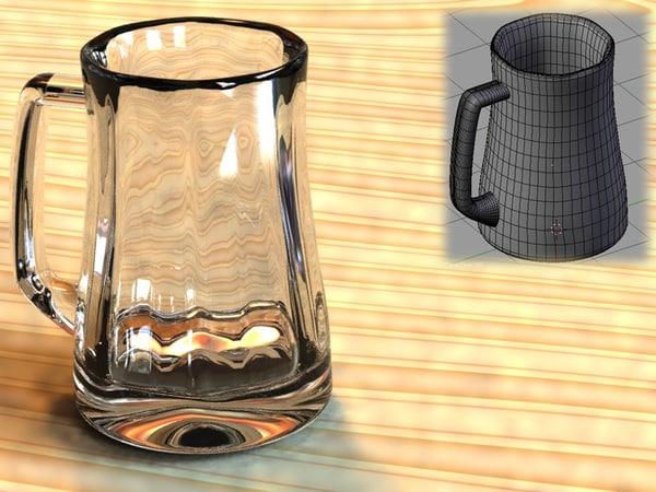 free blend model glass mug