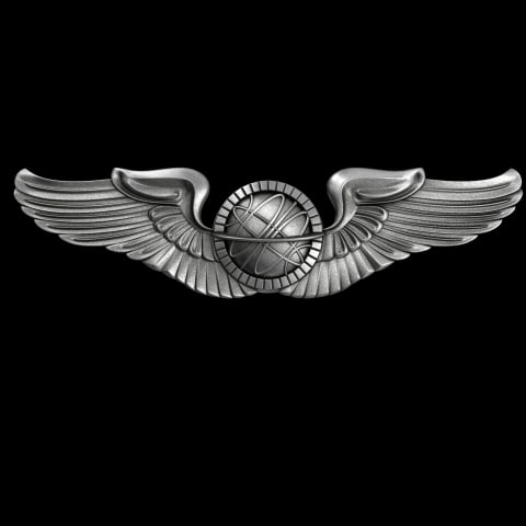 3d usaf navigator badge forces model