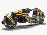 3d model sci fi motorcycle