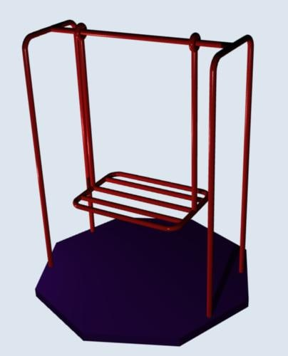 3d abstract art - swing model