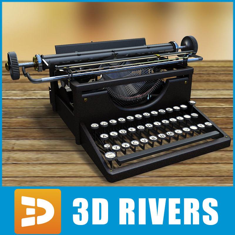 old typewriter 3d model