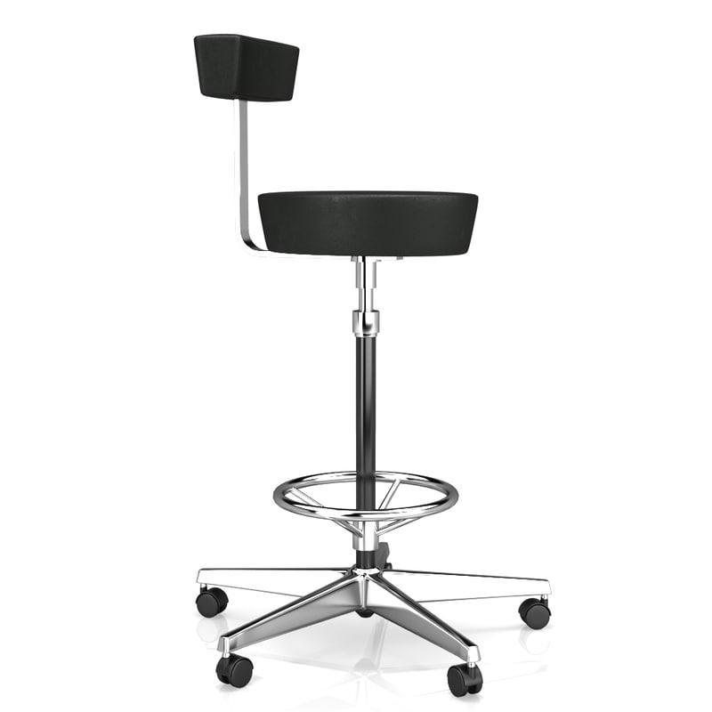 bar chair vitra nelson 3d model